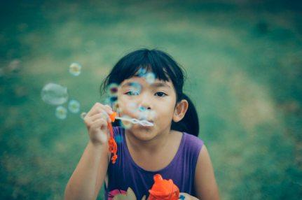 Girl bubbles